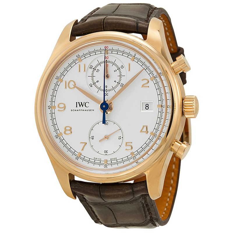 Fake IWC Portuguese Chronograph Classic Automatic Rose Gold Mens Watch IW390402