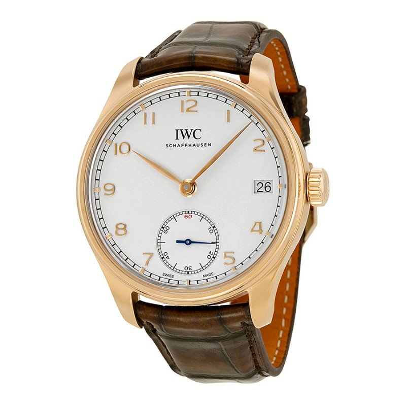 Fake IWC Portuguese Manual Wind Eight Days Rose Gold Mens Watch IW510204
