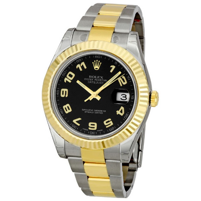 Fake Rolex Datejust II Two-tone Mens Watch 116333BKAO