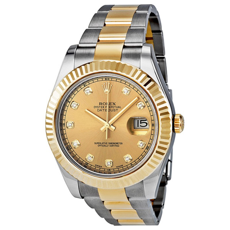 Fake Rolex Datejust II Champagne Dial Automatic Mens Watch 116333CDO