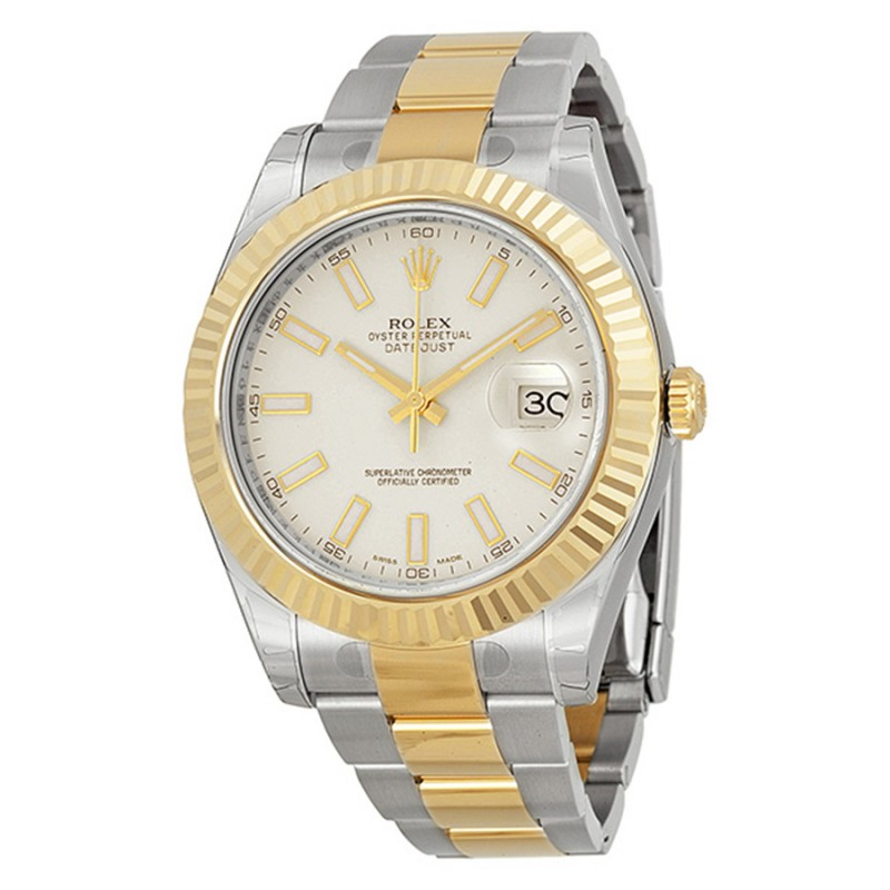 Fake Rolex Datejust II Ivory Index Dial Mens Watch 116333ISO