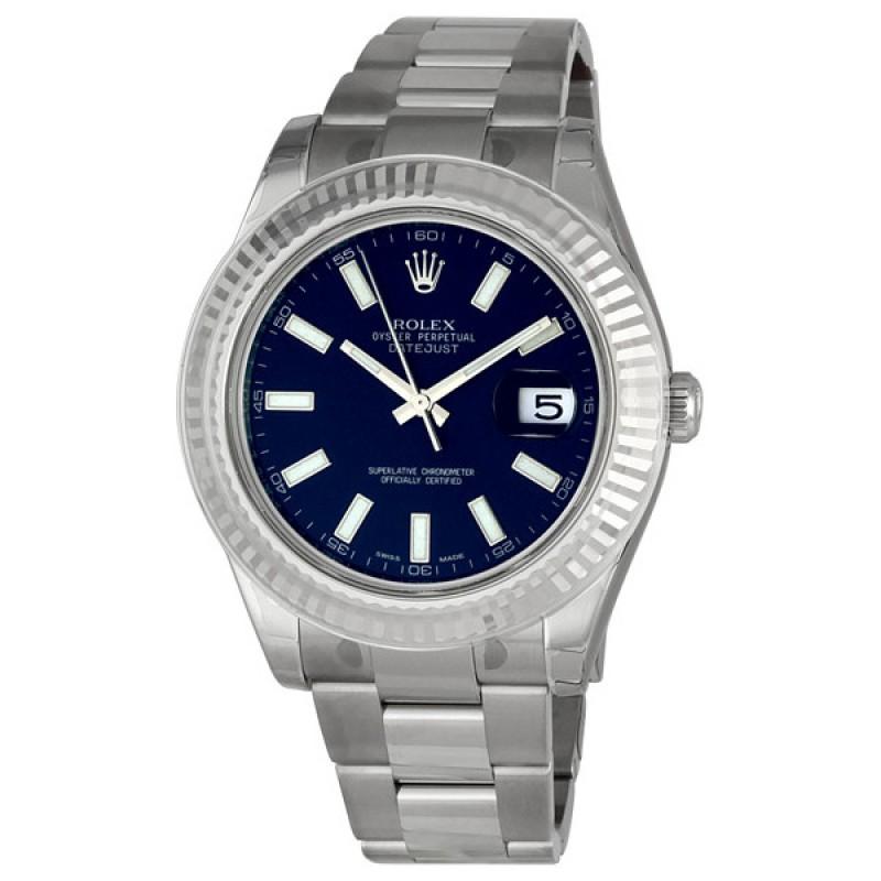Fake Rolex Datejust II Blue Index Dial Mens Watch 116334BLSO