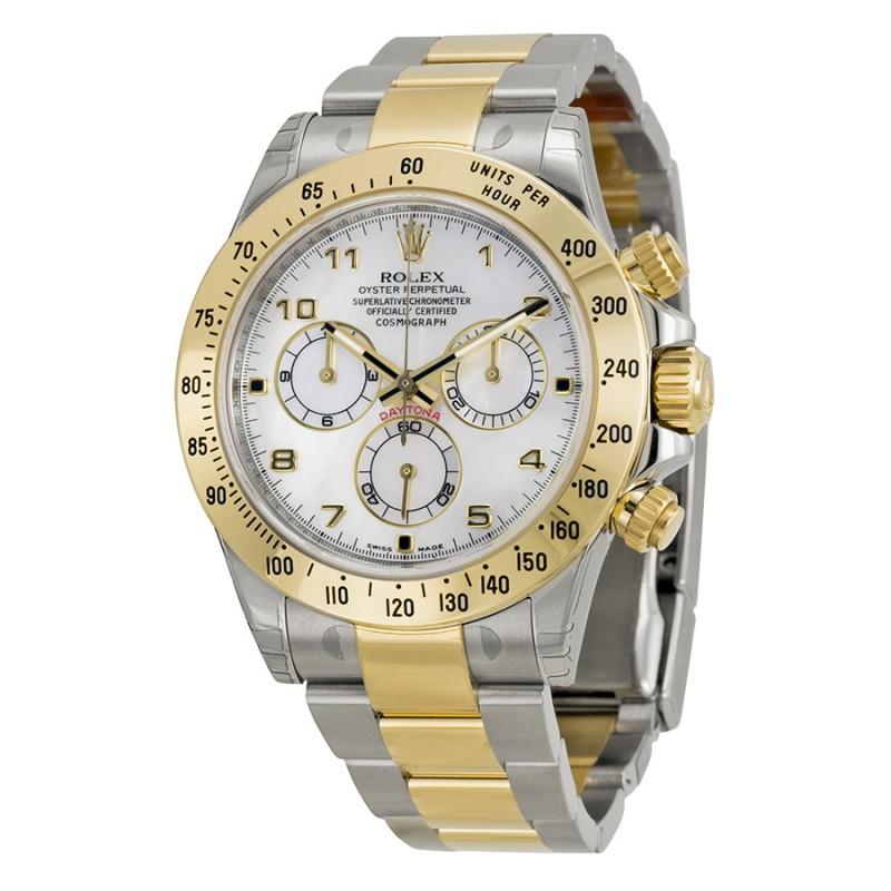 Fake Rolex Daytona Mother of Pearl Arabic Dial Mens Watch 116523MAO