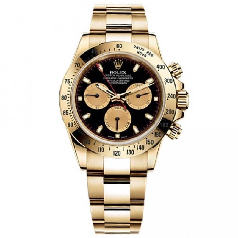 Fake Rolex Daytona Black Dial Mens Watch 116528BKCSO