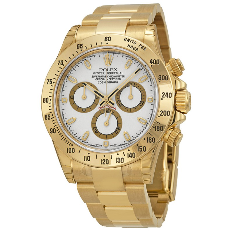 Fake Rolex Daytona White Index Dial Mens Watch 116528WSO
