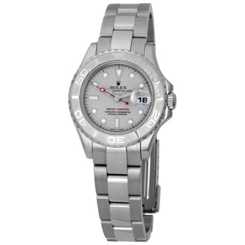 Fake Rolex Yachtmaster Grey Index Dial Ladies Watch 169622GYSO