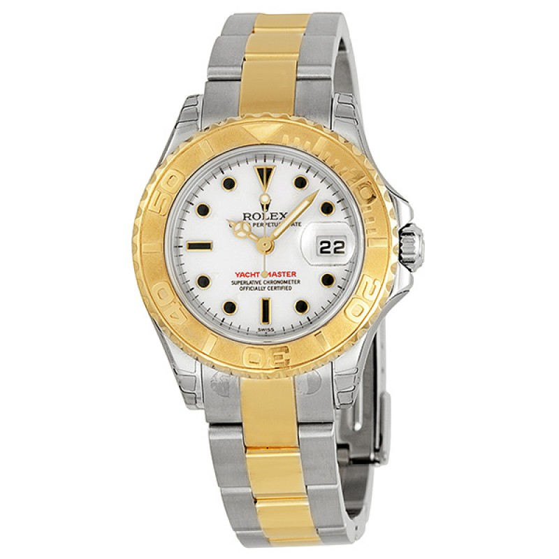Fake Rolex Yachtmaster White Dial Ladies Watch 169623WSO