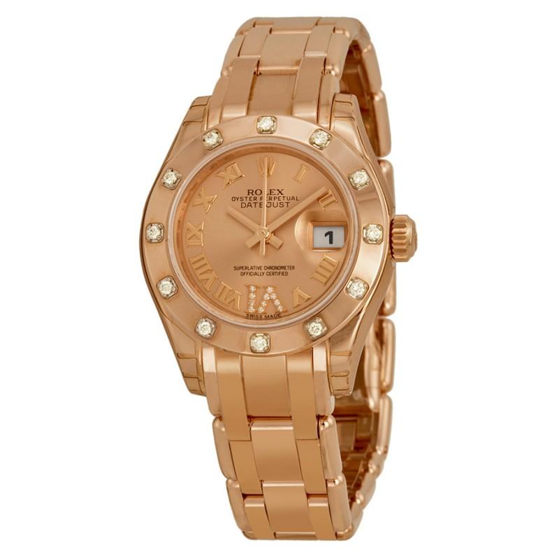 Fake Rolex Datejust Pearlmaster Ladies Watch 80315PKRDPM