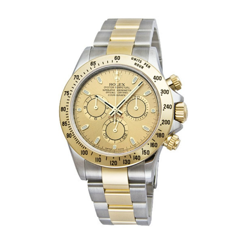 Fake Rolex Daytona Champagne Index Dial Mens Watch 116523CSO