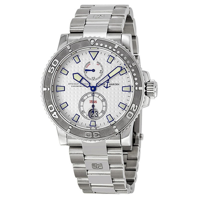Fake Ulysse Nardin Maxi Marine Diver Chronometer Automatic Mens Watch 263-33-7