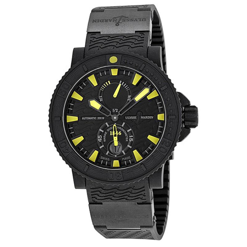 Fake Ulysse Nardin Maxi Marine Black Sea Mens Watch 263-92-3C-924