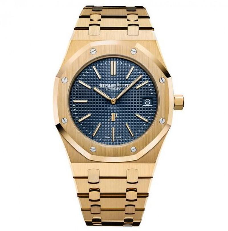 Replica Audemars Piguet Royal Oak Extra-Thin Blue Dail Watch 15202BA.OO.1240BA.01