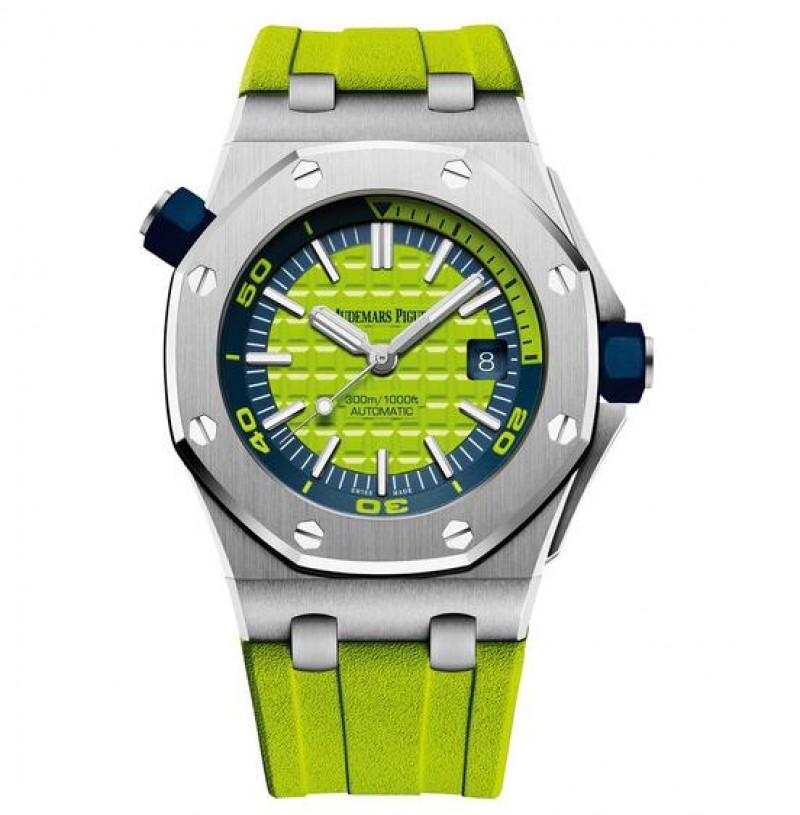 Replica Audemars Piguet Royal Oak Offshore Diver Green Watch 15710ST.OO.A038CA.01