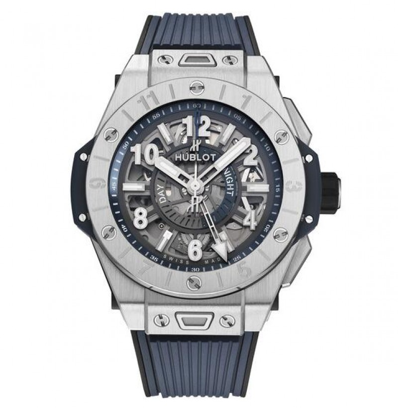 Fake Hublot Big Bang Unico GMT Titanium 45MM Mens Watch 471.NX.7112.RX