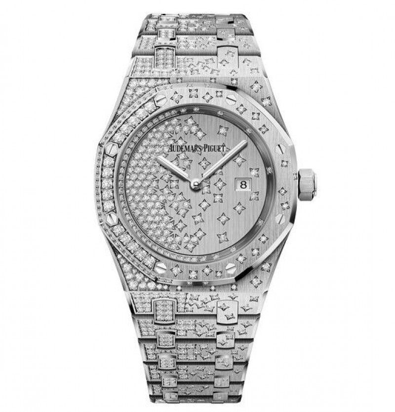 Replica Audemars Piguet Royal Oak Quartz White Gold Watch 67654BC.ZZ.1264BC.01