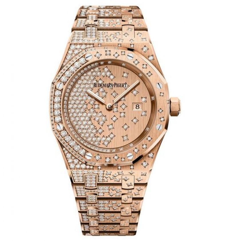 Replica Audemars Piguet Royal Oak Quartz Pink Gold Watch 67654OR.ZZ.1264OR.01