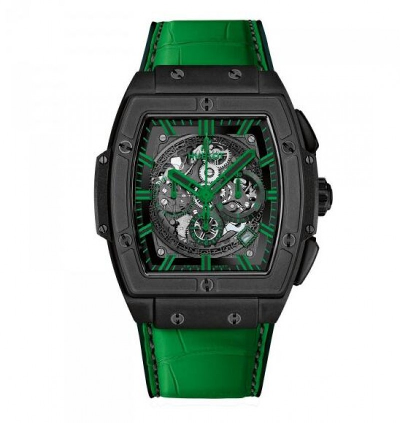 Fake Hublot Spirit Of Big Bang All Black Green Watch 601.CG.0190.LR