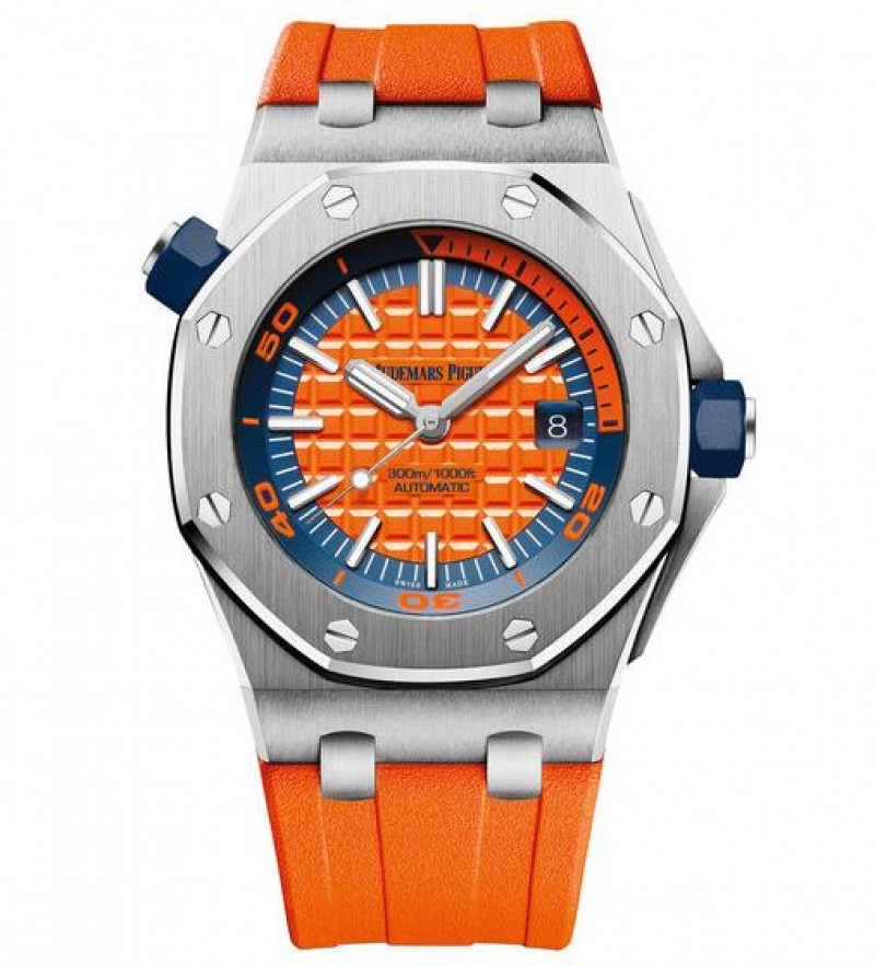 Replica Audemars Piguet Royal Oak Offshore Diver Orange Watch 15710ST.OO.A070CA.01