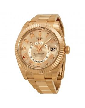 Fake Rolex Sky Dweller Sundust Dial Mens Watch 326935