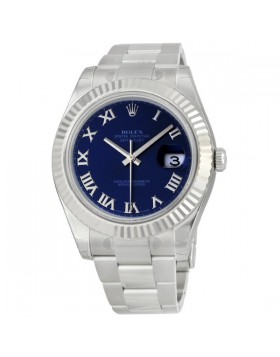 Fake Rolex Datejust II Blue Roman Dial Mens Watch 116334BLRO