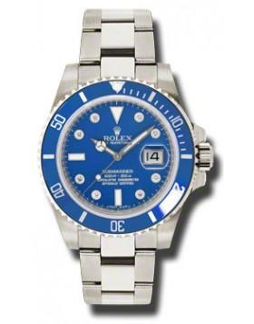 Fake Rolex Submariner Gold Blue Automatic Mens Watch 116619BLDO