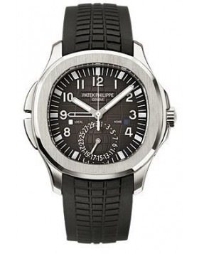 Replica Patek Philippe Aquanaut Dual Time Automatic Mens Watch 5164A-001