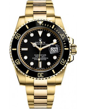 Fake Rolex Submariner Black Dial Mens Watch 116618