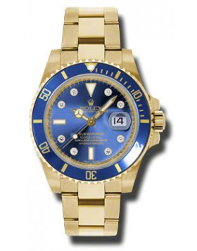 Fake Rolex Submariner Blue Dial Mens Watch 116618