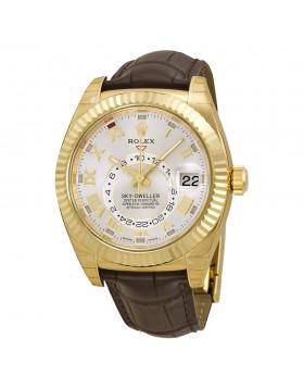 Fake Rolex Sky Dweller Silver Dial Mens Watch 326138