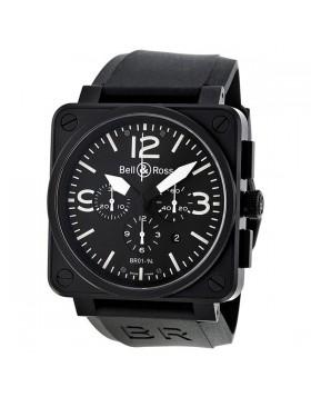 Replica Bell & Ross Carbon Chronograph Mens Watch BR0194-BL-CA