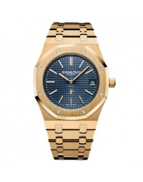 Replica Audemars Piguet Royal Oak Extra-Thin Blue Dail Watch 15202BA.OO.1240BA.01