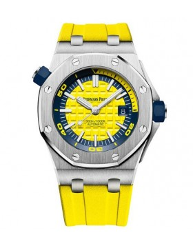 Replica Audemars Piguet Royal Oak Offshore Diver Yellow Watch 15710ST.OO.A051CA.01