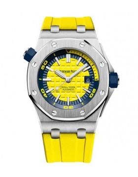 Replica Audemars Piguet Royal Oak Offshore Diver Yellow Watch 15710ST.OO.A051CA.01