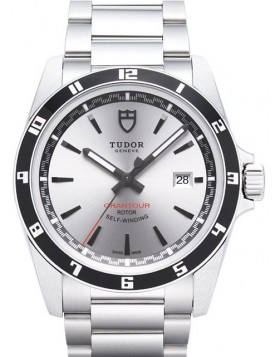 Fake Tudor Grantour Date Silver Dial Steel Strap Mens Watch