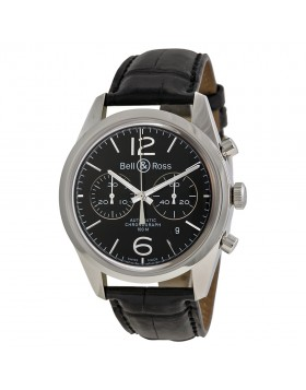 Replica Bell & Ross Vintage Officer Automatic Chronograph Mens Watch RBRG126-BL-ST-SCR