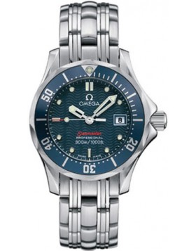 Fake Omega Seamaster Diver 300 M James Bond Blue Ladies Watch 2224.80.00