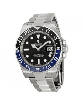 Fake Rolex GMT Master II Black Dial Mens Watch 116710BLNR