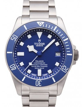 Fake Tudor Pelagos Blue Dial Titanium Strap Mens Watch