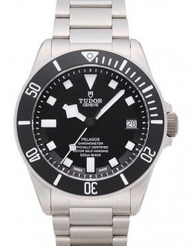 Fake Tudor Pelagos Black Dial Titanium Strap Mens Watch