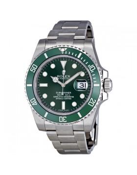 Fake Rolex Submariner Green Dial Steel Mens Watch 116610LV