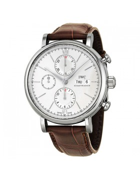 Fake IWC Portofino Silver Dial Chronograph Mens Watch IW391007