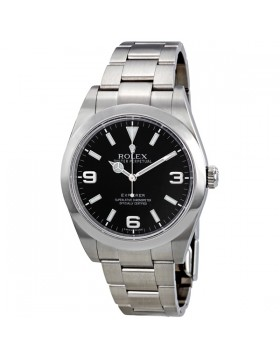 Fake Rolex Explorer Black Dial Mens Watch 214270BKASO
