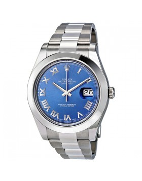 Fake Rolex Datejust II Blue Dial Mens Watch 116300
