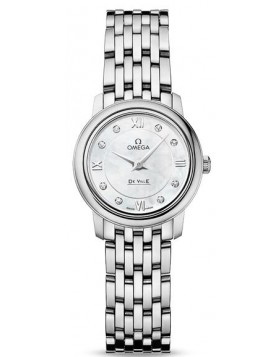 Fake Omega De Ville Prestige Quartz 24.4mm Ladies 424.10.24.60.55.001