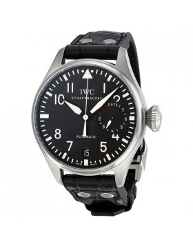 Fake IWC Big Pilot's Black Dial Mens Watch IW500901