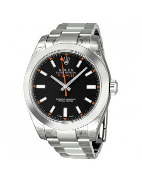Fake Rolex Milgauss Black Index Dial Mens Watch 116400BKSO