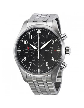 Fake IWC Pilot's Chronograph Automatic Stainless Steel Mens Watch IW377704