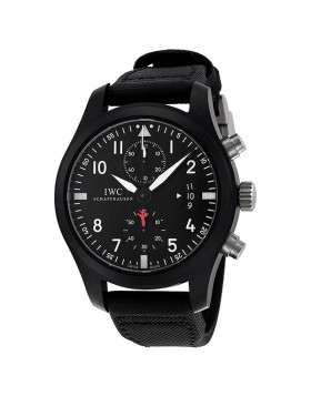 Fake IWC Pilot's Top Gun Edition Black Dial Automatic Mens Watch IW388001