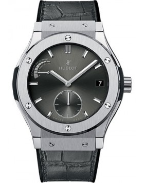 Fake Hublot Classic Fusion Power Reserve Titanium Racing Grey 45mm 516.NX.7070.LR