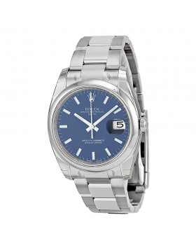 Fake Rolex Date Blue Index Dial Mens Watch 115200BLSO